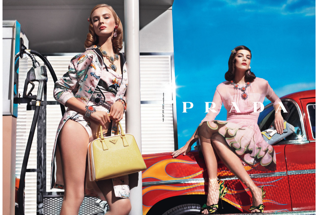 Prada, 2012, advertisement, ad, spring, summer, beauty, fashion, makeup