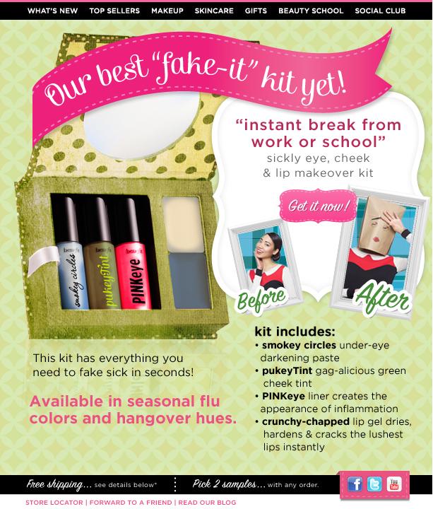 Benefit, beauty, cosmetics, fake, makeup